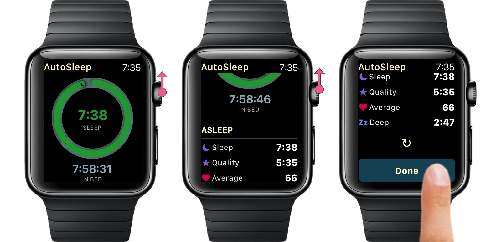 AutoSleep Lights Off Watch Done