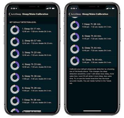 AutoSleep 5.1 Sleep Calibration