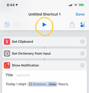 Play shortcut